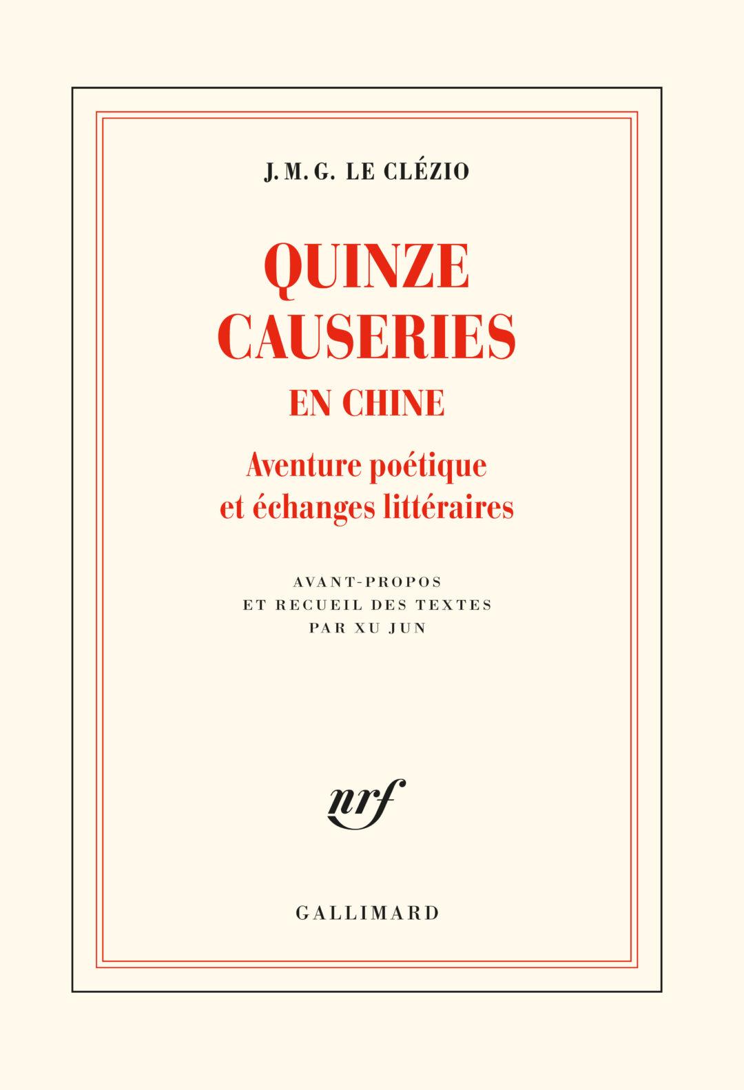Quinze causeries en Chine, de Jean-Marie Gustave Le Clézio